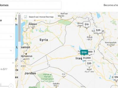 Five Airbnb rentals located in war zones