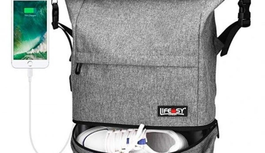 Review – Travel Backpack, Lifeasy Waterproof Anti-Theft Roll Top Business Laptop Bag Lightweight Daypack