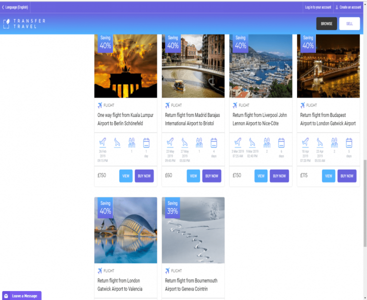 Transfertravel.com - Market place to find the cheap flights and hotels online
