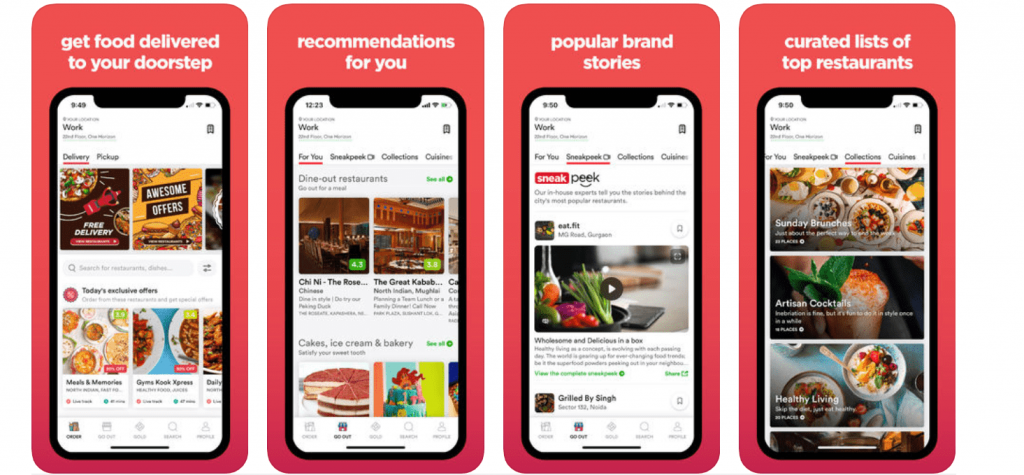 Zomato - A mut-use travel food app for India