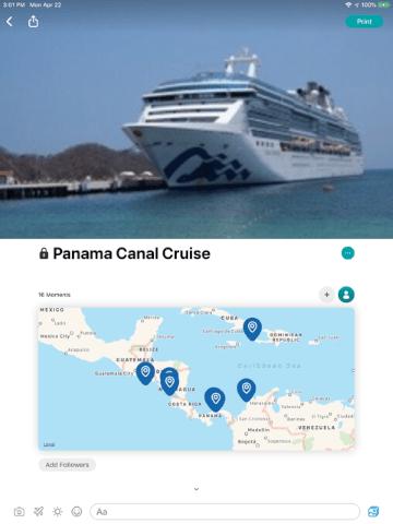 Use Journi Blog on your next cruise