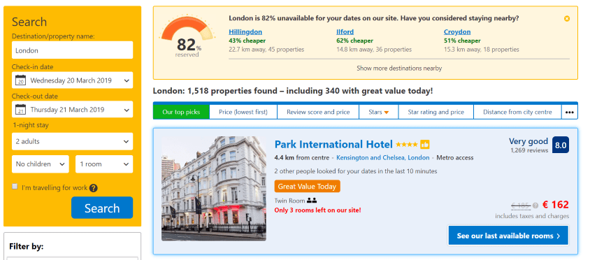 source: booking.com - compare hotel prices with bookig.com before buying