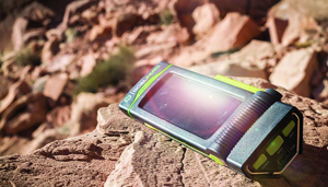 Solar Energy Gadget: Portable Solar Charger Waterproof Cell Phone Power Bank