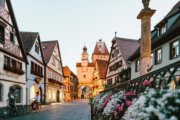 Rothenburg, Germany - winter vacation