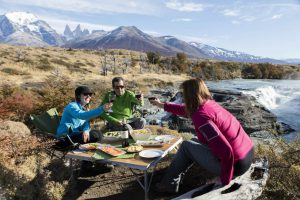 Patagonia trek starts at the Patagonia camp